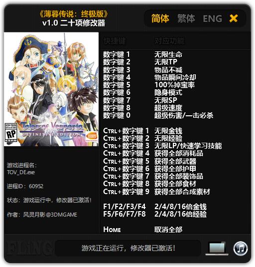 《薄暮传说:终极版》v1.0 二十项修改器[3DM][更新]