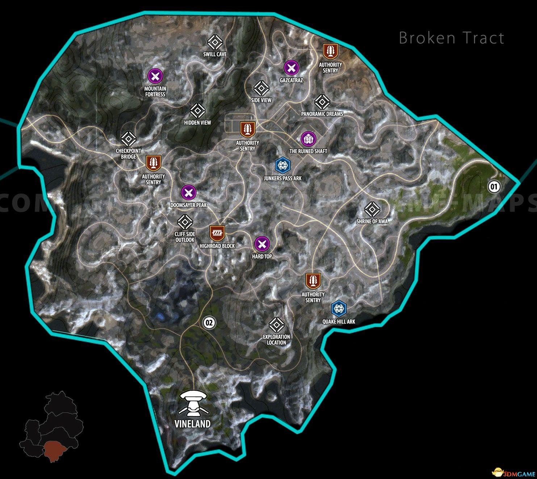 《狂怒2》全任务地图 狂怒2全支线全方舟位置 方舟货箱