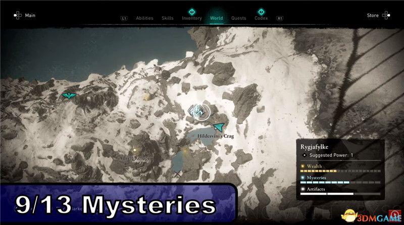 《刺客信条:英灵殿》全收集图文攻略 全财富神秘传说文物装备技能等收集品位置