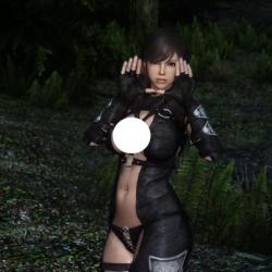 [Aradia] Leather Thief Armor Black CBBE SE 3BA V2 性格皮革护甲