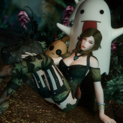 DX Gwelda女巫服(DX Gwelda Witch Outfit - SSE CBBE BodySlide)