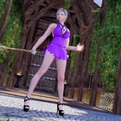 Fox64蒂法熟女连衣裙~Fox 64 Tifa Mature Dress