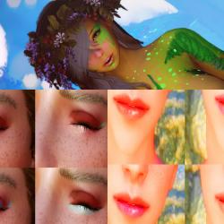 无聊时候丢一发...RM女性.眼影.唇彩.化妆插件... 2K和4K纹理供选!