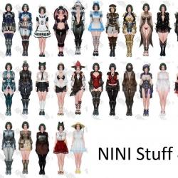 Nini付费套装包~正常版+破损版+清凉版+透视版+浸湿版~Nini Stuff 4.0 [CBS/UBS/COS]